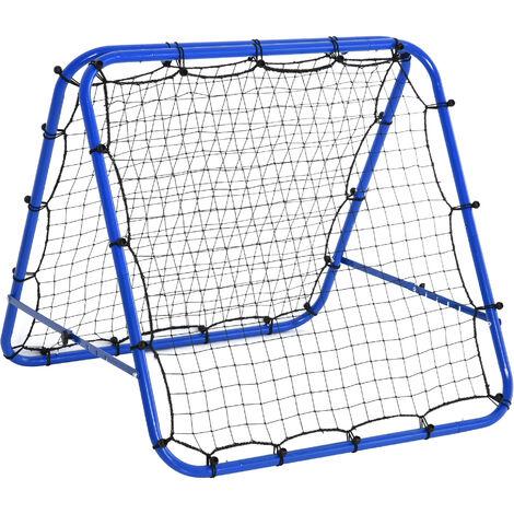 HOMCOM Rebounder Net Football Target Goal Training Adjustable Angle