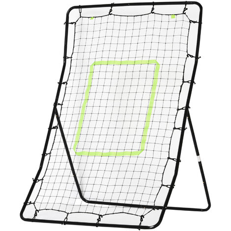 HOMCOM Rebounder Net Playback Soccer Football Game Spot Target Ball Rebounders Training Equipment Play Teaching