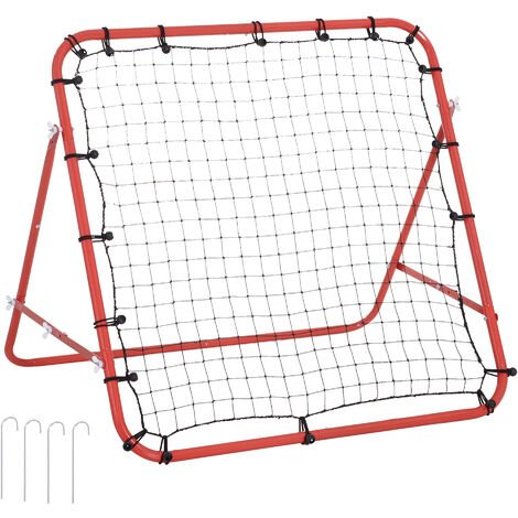 HOMCOM Rebounder Net Sport Practise Goal Kids Adults Training Aid Adjustable Red