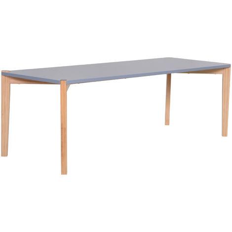 HOMCOM Rectangular Coffee Table Retro Style w/ 4 Wood Legs Living Room