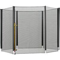 HOMCOM Red de seguridad pared protectora cama elastica trampolín redonda 6 barras, diámetro ø 305 cm(6 barras)