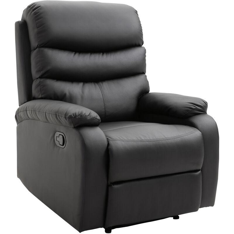 ® Relaxsessel mit Liegefunktion | Fernsehsessel | Schwarz | 82 x 97 x 100 cm - schwarz - Homcom