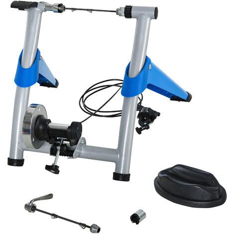 HOMCOM Rodillo para Bicicleta con Resistencia Ajustable de 8 Niveles 77x56x47,5 cm Azul