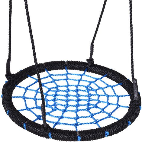 HOMCOM Round Spider Web Tree Swing Kids Hanging Seat Outdoor Garden 60cm
