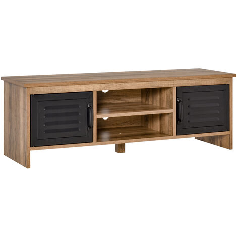 """main image of """"HOMCOM Rustic-Industrial TV Stand Cabinet Storage Unit w/ Drawers Cupboards"""""""