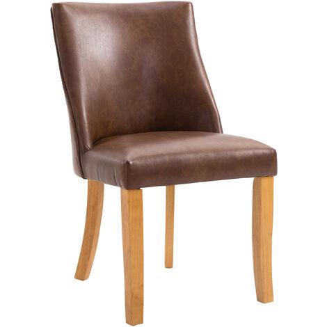homcom Sedia da Pranzo Design Classico Sedile Imbottito