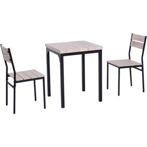 HOMYCASA Homy casa pz Set Tavolo e 4 sedie per Sala da Pranzo mobili da Cucina in Metallo Bistro Set weng/é