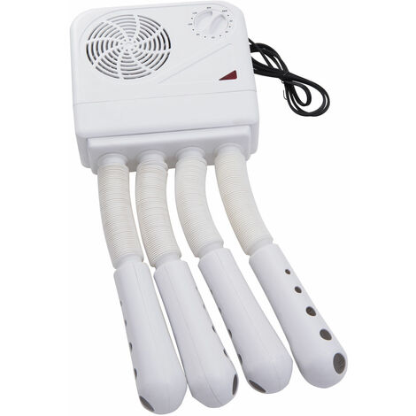 Homcom Shoe Boot Dryer Electric Hot Air Warmer Heater Disinfectant Wall Mounted Portable - White