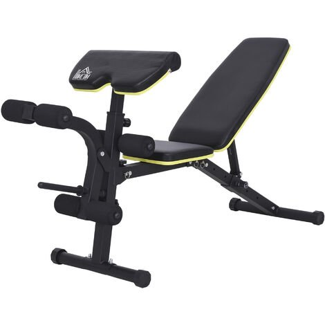 HOMCOM Sit-Up Dumbbell Bench Duo Adjustable Seat Back Home Fitness Gym Practice