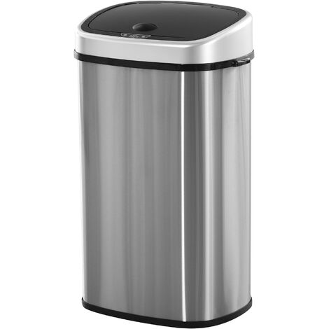 HOMCOM Stainless Steel Sensor Dustbin Automatic Touchless Rubbish Bin 58L
