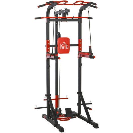 HOMCOM Steel Frame Pull Up Bar Station Power Tower Home Gym Equipment Fitness