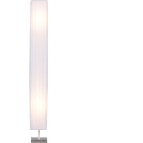 HOMCOM® Stehlampe Wohnzimmer E27 Edelstahl 120cm Weiß