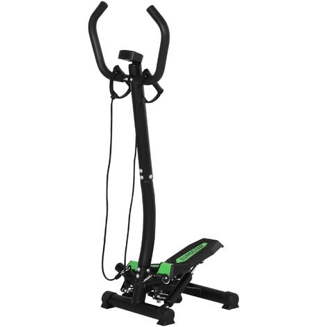 HOMCOM® Stepper mit Haltegriff Trainingsbänder Sidestepper Heimtrainer