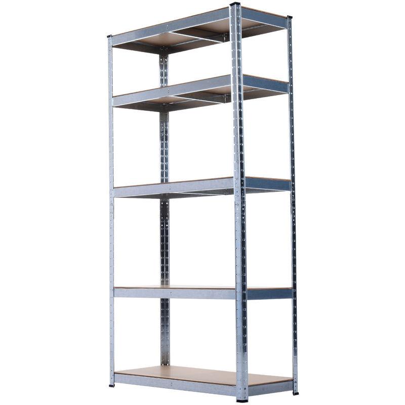 new styles b05a0 dc20c HOMCOM Storage Rack 180cm 5 Shelf Heavy Duty Garage Shelving Shelves Unit