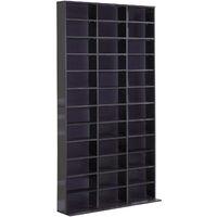 HOMCOM Storage Shelf CD Bookcase Shelf Unit Organiser Home Furniture Black