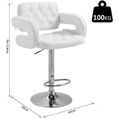 Strange Homcom Swivel Barstool With Arm Rest With Gas Lift Height Adjustable Kitchen Pabps2019 Chair Design Images Pabps2019Com
