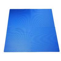 Homcom tappeto puzzle incastro set 8 pezzi 60x60cm blu