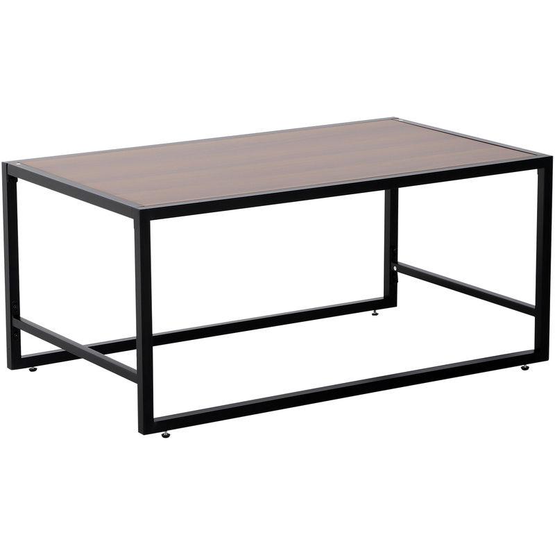 Tavolino Basso In Legno.Homcom Tavolino Basso In Legno E Metallo Design Industrial