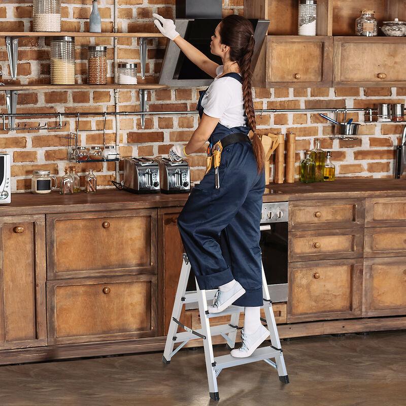 102 Aluminium Arcama Home EN14183 Klapptritt//Trittleiter