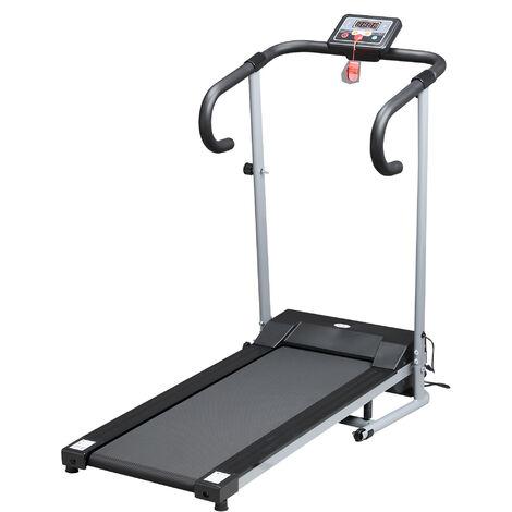 HOMCOM Unisex Motorised Electric Treadmill, Grey/Black, 62 x 62.5 X 119 cm