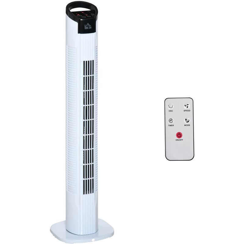 HOMCOM Ventilatore a Colonna con Telecomando Oscillazione 3 Funzioni 3 Velocità