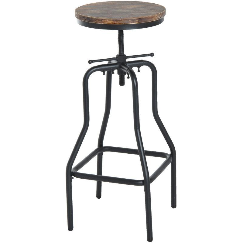 Stupendous Homcom Vintage Industrial Bar Stool Height Adjustable Swivel Chair Frankydiablos Diy Chair Ideas Frankydiabloscom