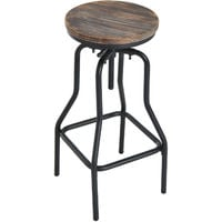 Homcom Vintage Industrial Bar Stool Height Adjustable Swivel Chair
