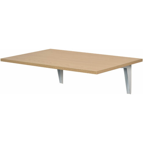 HOMCOM® Wandklapptisch Wandtisch Klapptisch für Küche Esszimmer Belastbarkeit 10 kg natur 60 x 40 x 1,5 cm - natur