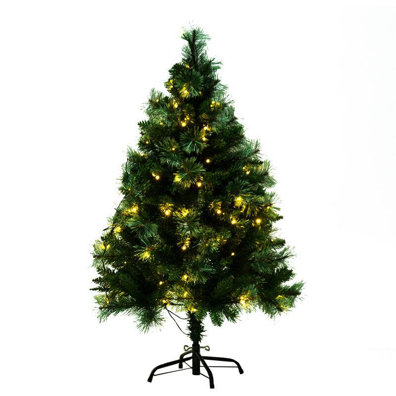 Tannenbaum 120 Cm.Homcom Weihnachtsbaum Led Tannenbaum Mit Metallständer Grün 120cm