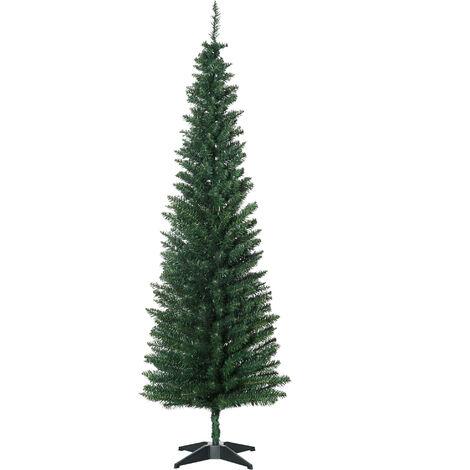 HOMCOM® Weihnachtsbaum Tannenbaum 180cm mit Kunststoffständer 390 Spitzen Grün