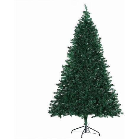 HOMCOM® Weihnachtsbaum Tannenbaum Christbaum 1000 Äste Fichten PVC Grün ∅102 x H180 cm