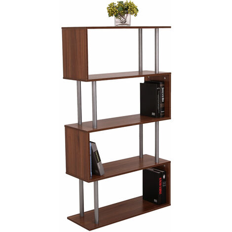 Homcom Wood S Shape Storage Display Unit Furniture