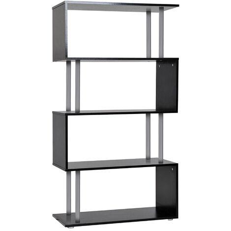 "main image of ""Homcom Wood S Shape Storage Display Unit Furniture"""
