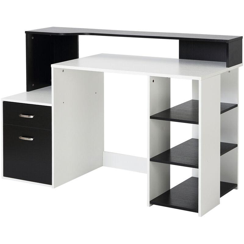 Homcom Wooden Computer Desk Pc Table Modern Home Office