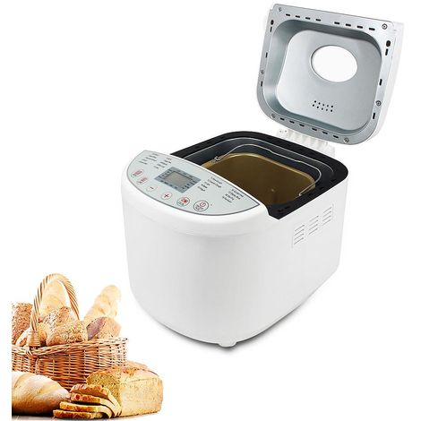 Home Baking Bread Maker, BreadMaker Machine, White, Material: Plastic