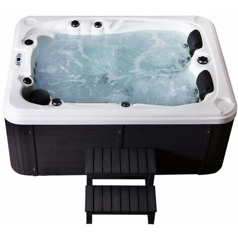 Home Deluxe - Outdoor Whirlpool Beach plus Treppe und Thermoabdeckung | Jacuzzi, Außenpool, Spa