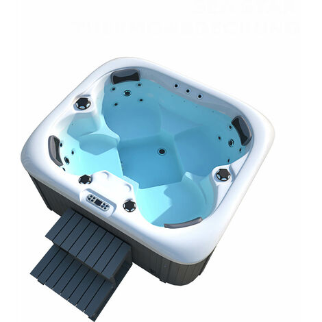 Home Deluxe - Outdoor Whirlpool Sea Star plus Treppe und Thermoabdeckung | Jacuzzi, Außenpool, Spa