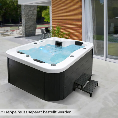 Home Deluxe - Outdoor Whirlpool White Marble | Jacuzzi, Außenpool, Spa