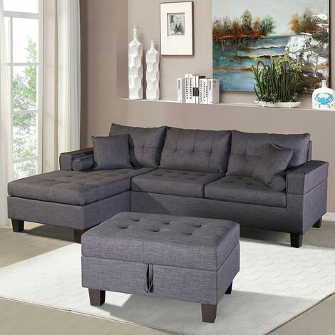Home Deluxe - Sofa Rom rechts   Ecksofa, Couch, Sofagarnitur