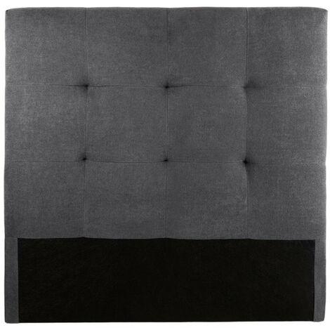 Home Heavenly® Cabezal Cama, cabecero tapizado OLSON acolchado para cama individual o matrimonial, no incluye herrajes | Medida: 105 cm; Color: Tela Gris - Gr-tela-Olson