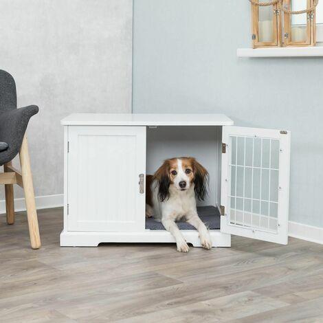 Home kennel - M: 73 × 53 × 53 cm, blanc