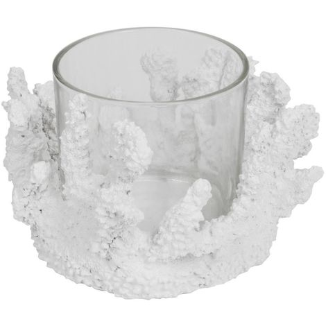 Home Living White Coral Style Candle Holder