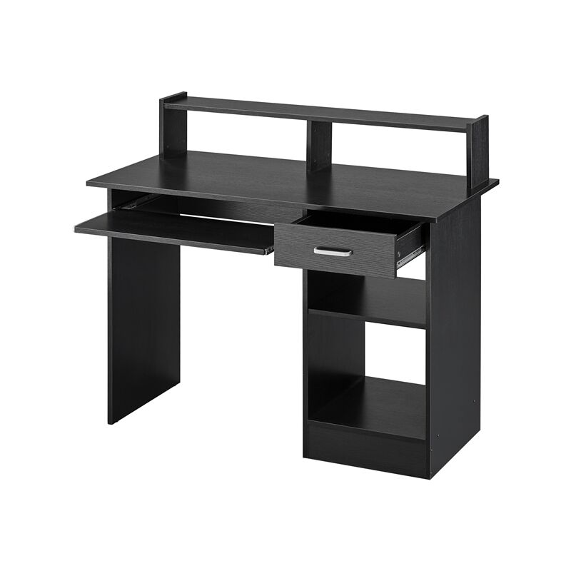 Home Office Computer Desk With Drawers Storage Shelf Keyboard Tray Black 610810 Black
