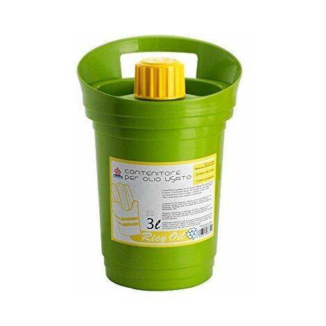 Home Ricyoil Bidon Récupérateur d\'Huile de Vidange, Plastique, 3 Litres