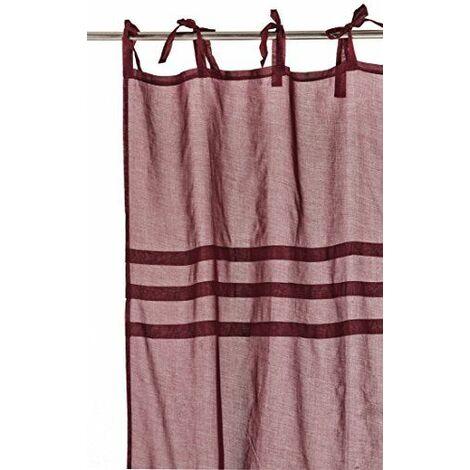 Home Stories 40603 Chic Voilage Nouettes Trois plis Coton Rouge 140 x 260 cm