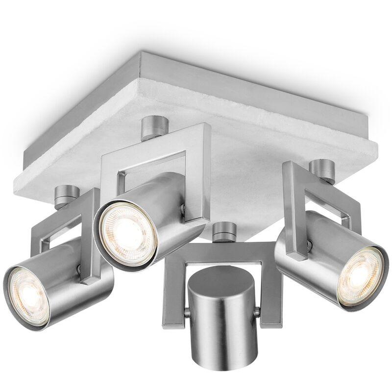 LED Spot Beton grau 4x5,8W - Home Sweet Home