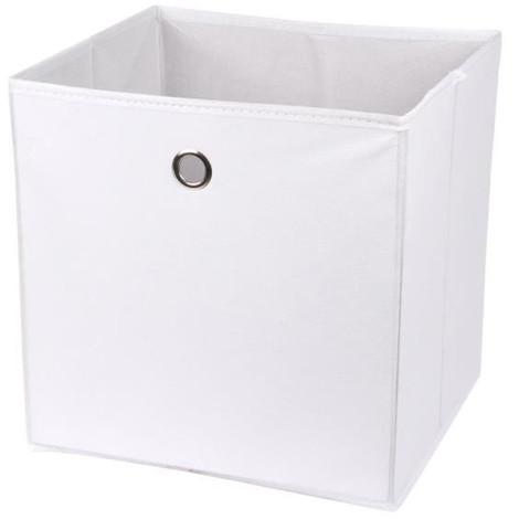HOMEA Panier De Rangement Intissé 31x29x31 Cm Blanc