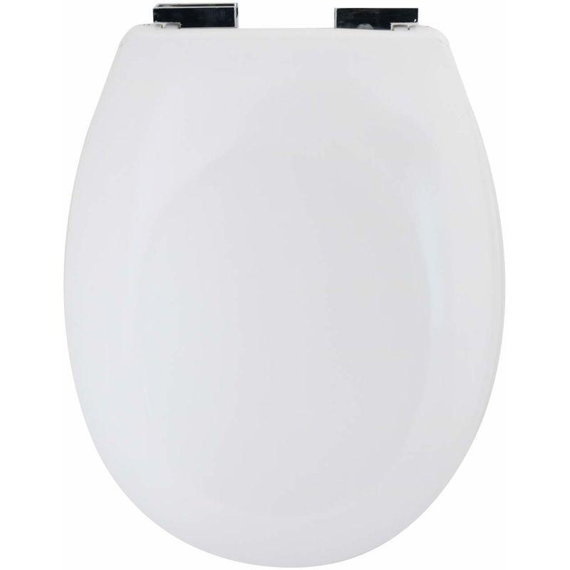 HOMELINE WC Sitz weiss mit Absenk Automatik Kunststoff Klodeckel Toilettensitz