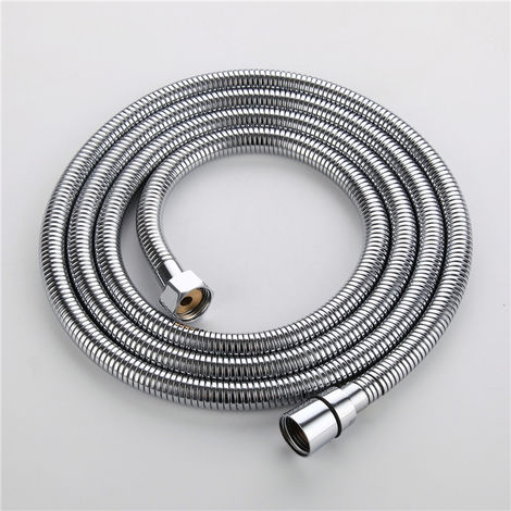 HOMELODY Anti Kink 2.0 m Shower Hose Chrome Stainless Steel Shower Hose Double Verrie Winged