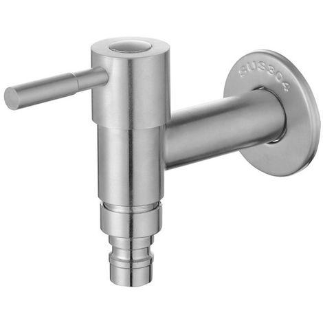 Homelody Grifo simple Lavadora cepillada Montado en la pared Grifo del fregadero Grifo de agua fría para baño Lavadora Rociador Grifo de acero inoxidable